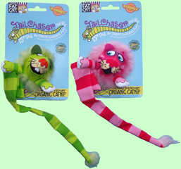 Fat Cat Tail Chasers Catnip Toys